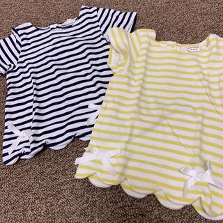 シマムラ(しまむら)のボーダーTシャツ 100cm 2枚セット(Tシャツ/カットソー)