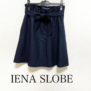 イエナスローブ(IENA SLOBE)のIENA SLOBE ベルト付きスカート ウール 秋冬(ミニスカート)