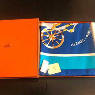 エルメス(Hermes)の【新品未使用 タグ付き】エルメス スカーフ カレ ツイリー 青(バンダナ/スカーフ)