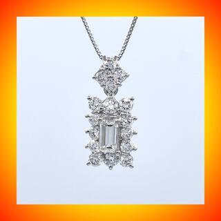 計1.194ct バゲットカット ダイヤモンド ネックレス PT900 プラチナ(ネックレス)