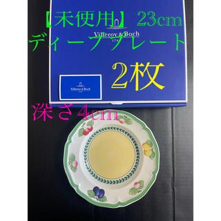 ビレロイアンドボッホ(ビレロイ&ボッホ)の【未使用】フレンチガーデン フローレンス ディーププレート23cm  2枚(食器)
