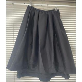 チェスティ(Chesty)のアシンメトリースカート ブラック(ひざ丈スカート)