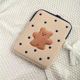 iPad - milkjoy ビスケット柄 くま 11インチ iPadケース 韓国雑貨