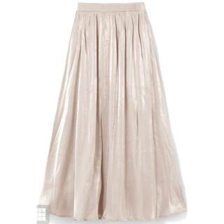 グレイル(GRL)のGRL オーロラ フレアスカート サテン スカート(ロングスカート)