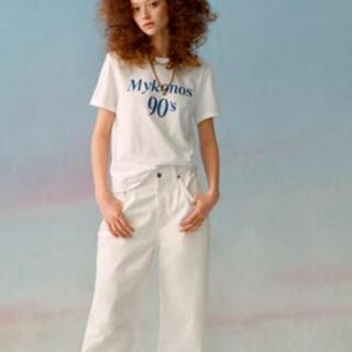 ザラ(ZARA)のZARA ZARA 新品 テキスト Tシャツ 今季 L トップス(Tシャツ(半袖/袖なし))