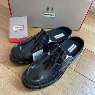 ハンター(HUNTER)のハンター ペニーローファー ブラック 24cm(ローファー/革靴)