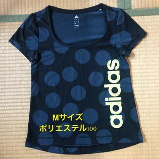 アディダス(adidas)のadidas アディダス  Tシャツ 水玉 ドット 黒 ティーシャツ M ポリス(Tシャツ(半袖/袖なし))