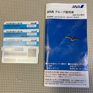 エーエヌエー(ゼンニッポンクウユ)(ANA(全日本空輸))のANA 株主優待券 3枚(航空券)