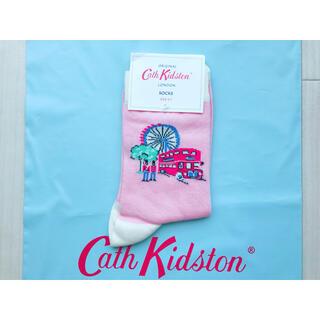 キャスキッドソン(Cath Kidston)の【新品未使用】キャスキッドソン ソックス ロンドンスポット(ソックス)