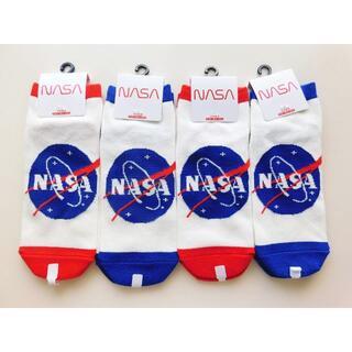 新品 NASA アメリカ航空宇宙局 ナサ 靴下4足セット レディース(ソックス)