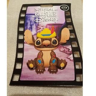 ディズニー(Disney)のディズニーストア限定 スティッチ×ピノキオ コラボピンバッジ(キャラクターグッズ)