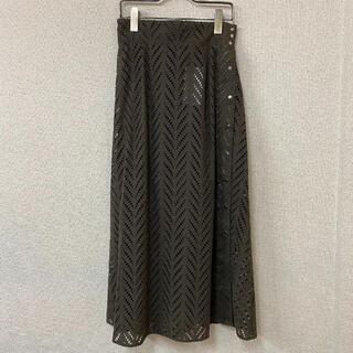 ローズバッド(ROSE BUD)の8517 ROSEBUD サイドボタンレーススカート(ロングスカート)