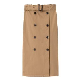 ジーユー(GU)のトレンチナローミディスカート!(ひざ丈スカート)