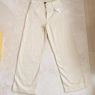 イエナスローブ(IENA SLOBE)のSLOBE IENA 新品未使用 パンツ ホワイトデニム(カジュアルパンツ)