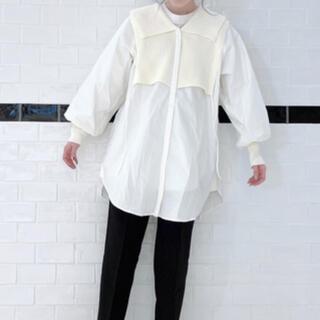 ジーナシス(JEANASIS)のJEANASIS 7GBIGカラーニットドッキングシャツ 933445(シャツ/ブラウス(長袖/七分))