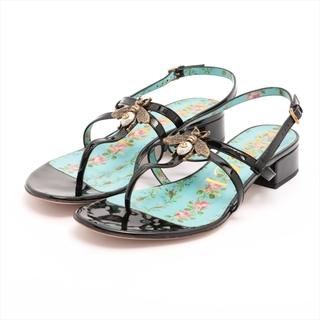 グッチ(Gucci)のグッチ  パテントレザー 36.5 ブラック レディース その他靴(その他)