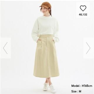 ジーユー(GU)の新品未使用!GU のコーデュロイフレアスカート!(ロングスカート)