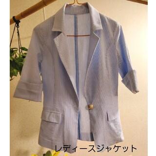 ジャケット 七分袖 ストライプ サマージャケット レディース(テーラードジャケット)