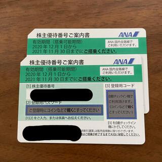 エーエヌエー(ゼンニッポンクウユ)(ANA(全日本空輸))のANA株主優待搭乗券 2枚(その他)