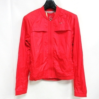 ナイキ(NIKE)のナイキ ウィメンズ ボマージャケット 520337 659 ジャケット 赤 M(ブルゾン)