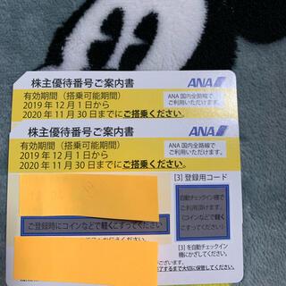 エーエヌエー(ゼンニッポンクウユ)(ANA(全日本空輸))のANA株主優待券2枚セット(航空券)