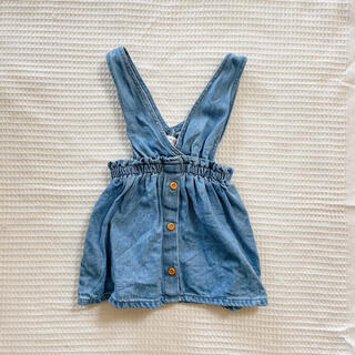 ザラ(ZARA)のZARAbaby ボタン付きデニムスカート(スカート)