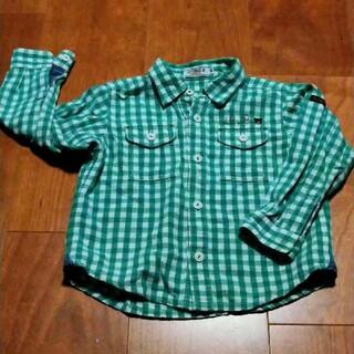 ダブルビー(DOUBLE.B)のダブルB ギンガムチェックシャツ 長袖 90(ブラウス)