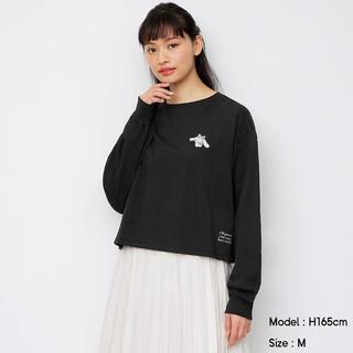 ジーユー(GU)の新品タグ付き gu ジーユ サンリオ シナモロール 刺繍 Tシャツ S(Tシャツ(長袖/七分))