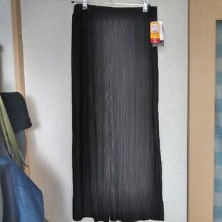 シマムラ(しまむら)のしまむら 黒プリーツロングパンツ 新品未使用 3Lサイズ(カジュアルパンツ)