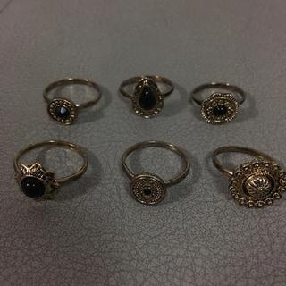 ベルシュカ(Bershka)の指輪 6個セット(リング(指輪))