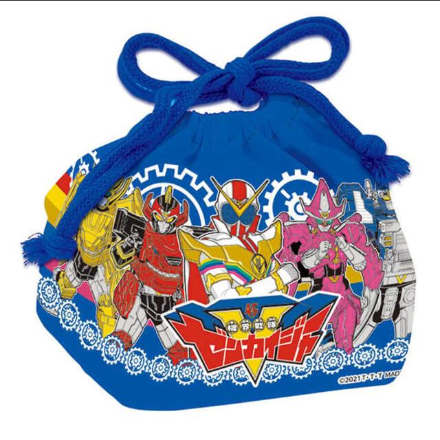 BANDAI(バンダイ)の機界戦隊 ゼンカイジャー ランチ巾着 ブルー  エンタメ/ホビーのおもちゃ/ぬいぐるみ(キャラクターグッズ)の商品写真