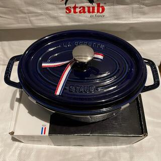 STAUB - オーバル 23cm グランブルー STAUB ストウブ