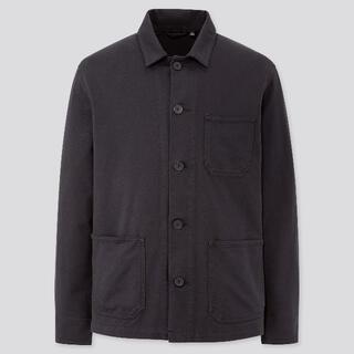 UNIQLO - ユニクロ ウォッシュジャージーワークジャケット M ネイビー
