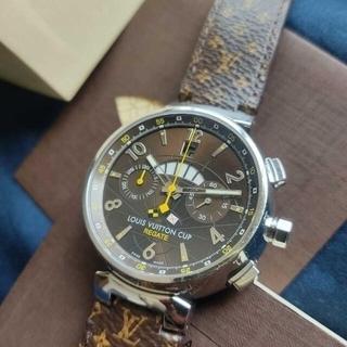 ルイヴィトン(LOUIS VUITTON)のLOUIS VUITTON タンブール レガッタ Q1021 裏スケルトン。(腕時計(アナログ))