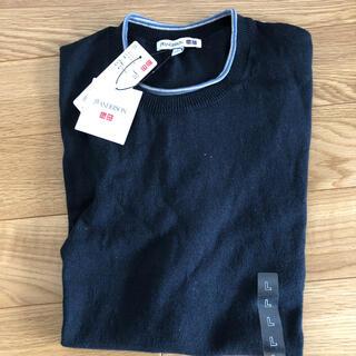 ユニクロ(UNIQLO)のUNIQLO jwanderson リネンコットン クルーネックセーター L(Tシャツ/カットソー(半袖/袖なし))