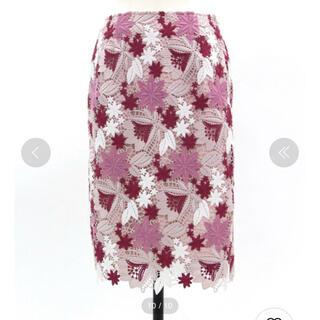 Noela - オータムカラーレースタイトスカート