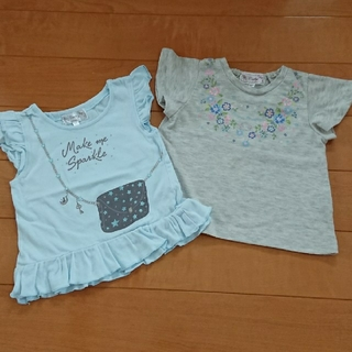 マザウェイズ(motherways)のmotherways◇カットソー・Tシャツ 2枚セット◇サイズ90◇女の子(Tシャツ/カットソー)