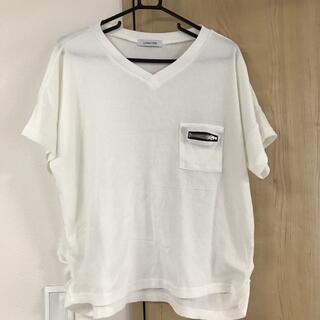 シマムラ(しまむら)の白シャツ L(Tシャツ(半袖/袖なし))