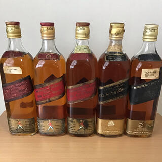 ジョニーウォーカー  ブラック レッド 特級 5本 ウイスキー(ウイスキー)