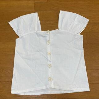 ティティベイト(titivate)のtitivate ティティベイト リネン混フロントボタンブラウス(シャツ/ブラウス(半袖/袖なし))