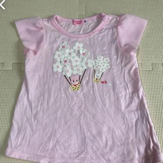 mikihouse - ミキハウス  ピンク花柄Tシャツ