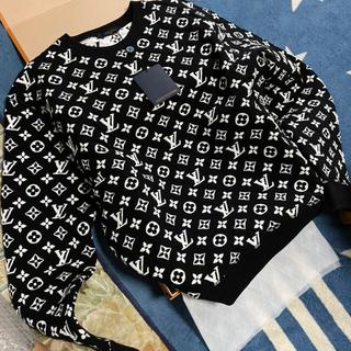 LOUIS VUITTON - 最安値‼︎ルイヴィトン フルモノグラム スウェット ニット シャツ ほぼ未使用品