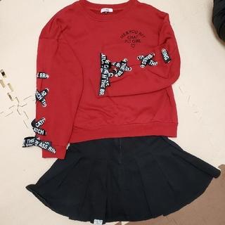 ピンクラテ(PINK-latte)のピンクラテ トレーナーとスカートセットMサイズ(Tシャツ/カットソー)