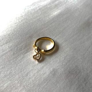 Ameri VINTAGE - ୨୧ Vintage rétro Gold Heart Ribbon Ring