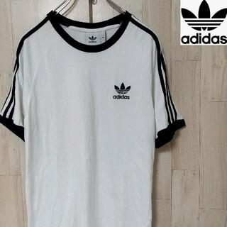 アディダス(adidas)の【定番】adidas アディダス SimpleWhiteT スリーライン ロング(Tシャツ/カットソー(半袖/袖なし))
