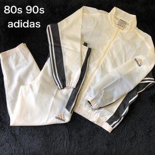 アディダス(adidas)の90s 80s 古着 ビンテージ アディダス 刺繍ロゴ セットアップ 上下(ジャージ)