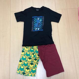 GU - 鬼滅の刃 冨岡義勇 140cm 130cm gu tシャツ 短パン ハーフパンツ