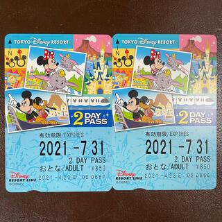 ディズニー(Disney)のディズニーリゾートライン フリー切符 2days(遊園地/テーマパーク)