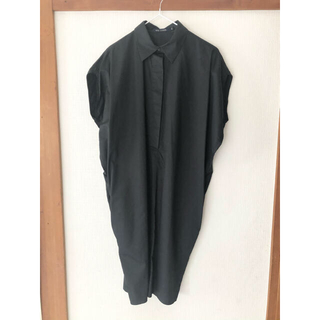ドゥロワー(Drawer)のDrawer  SOFIE D'HOORE シャツ ワンピース ドレス 黒(ひざ丈ワンピース)