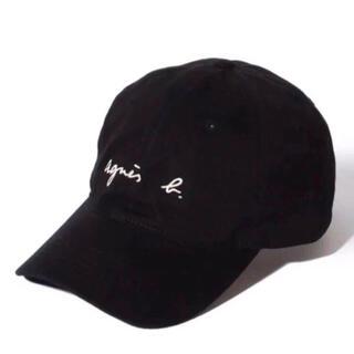 agnes b. - 新品 アニエスベー  キャップ ロゴキャップ 帽子 黒